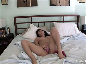 big-chested London's home movie getting off