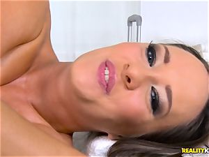 screwing the pussyhole of kinky brown-haired Blue Angel