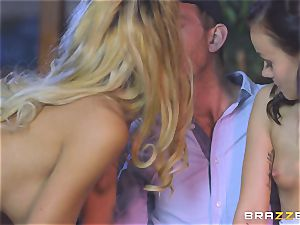 Chelsey Lanette and Tina Walker sizzling escort threesome