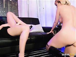 young buxomy stripper gets a test of force by her boss Rachel Starr