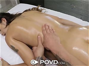 POVD DEEP voluptuous rubdown bang with super-sexy beginner