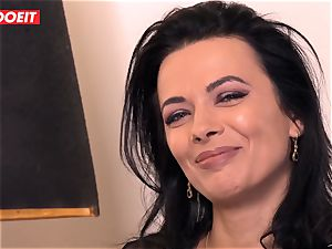LETSDOEIT - Romanian beauty Creamed By a French pecker