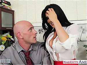 super-naughty Romi Rain looking uber-sexy in the office
