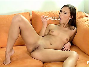 Victoria toying with her jiggly muff