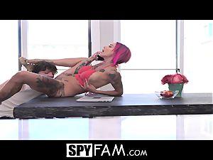 SpyFam Stepmom Anna Bell Peaks anal invasion fuck by stepson