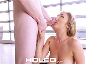 HOLED Lena Paul anal invasion penetrated and facial in LA pad