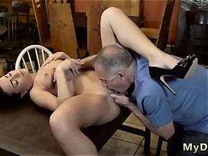 aged couple and woman dude smooching nubile Can you trust your girlpartner leaving her alone