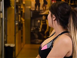 asian hottie London Keyes humps her man after a exercise