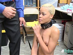 Officer embraces Arie as he bangs her vulva firm and deep