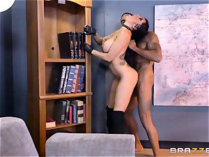 off the hook agent Romi Rain gets snatch deep with the chief