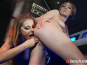 cooter lovinТ lesbos Adriana Chechik and Lily Labeau unload on board