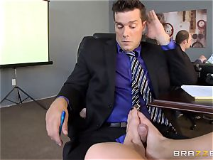 kinky office girl Holly Heart pummeling across the office desk