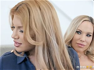 Mercedes Carrera and Olivia Austin threeway therapy