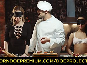 CHEF DE orgy Spanish Apolonia Lapiedra gang taste test