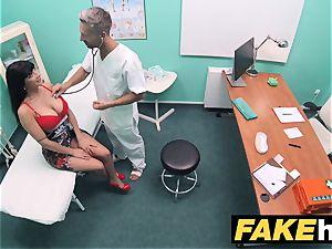 fake hospital wc room blow-job and romping