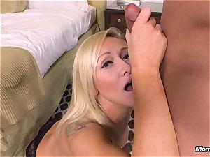 fresh blondie mummy gets rectal pov