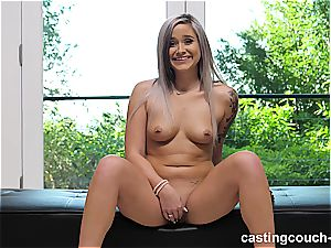 whorish inked babe gets her cooch demolished by bbc in a audition episode