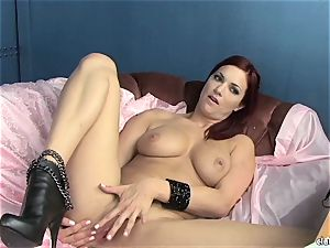 sensuous Jayden Cole enjoys taunting her saucy moist bud