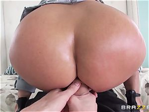 Rear end fuck-fest for scorching dark-haired Holly Halston