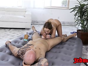 sensuous blond Daisy Stone romped after glamour rubdown
