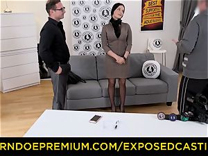 exposed audition - steaming Czech stunner jammed by stallion