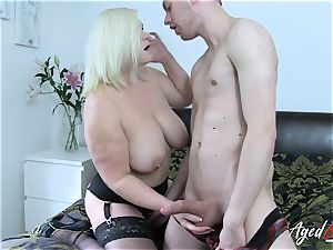 AgedLovE busty Mature Lacey Starr hard-core lover