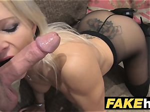 faux Agent UK adorable kinky milf with shaven coochie