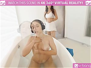 VR PORN-Outrages Step mother Syren munching Abellas fuckbox