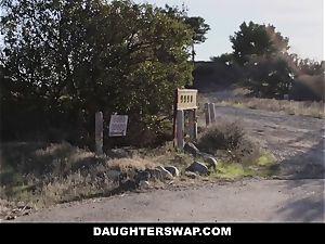 DaughterSwap - ultra-cute nubile webcam gal screwed By Bffs dad