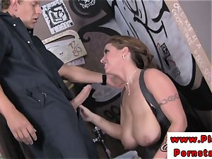 Eva Notty tit and cooch pulverized after deepthroating on meatpipe