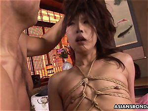 tied japanese gags on a furry beef whistle after being fingered