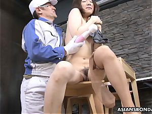 Masturb japanese babe with toy and love