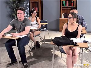 chesty tutor Ava Addams is plowed by her college girl