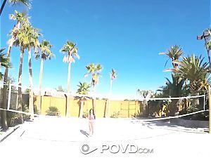 POVD Backyard badminton assfuck pound with Anissa Kate