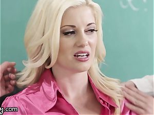Girlsway ultra-kinky lesbo students Manipulate professor