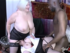 AgedLovE Lacey Starr bi-racial three way