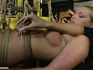 Kathia Nobili and Mandy Bright assets trussing with cord