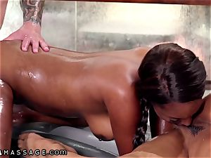 daddy Gets nubile masseur Kira Noir