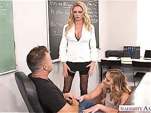 wild teacher punishes college girls
