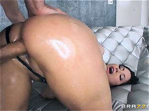 Alexa Nicole gets rump plug and fuck-stick in her steaming bum